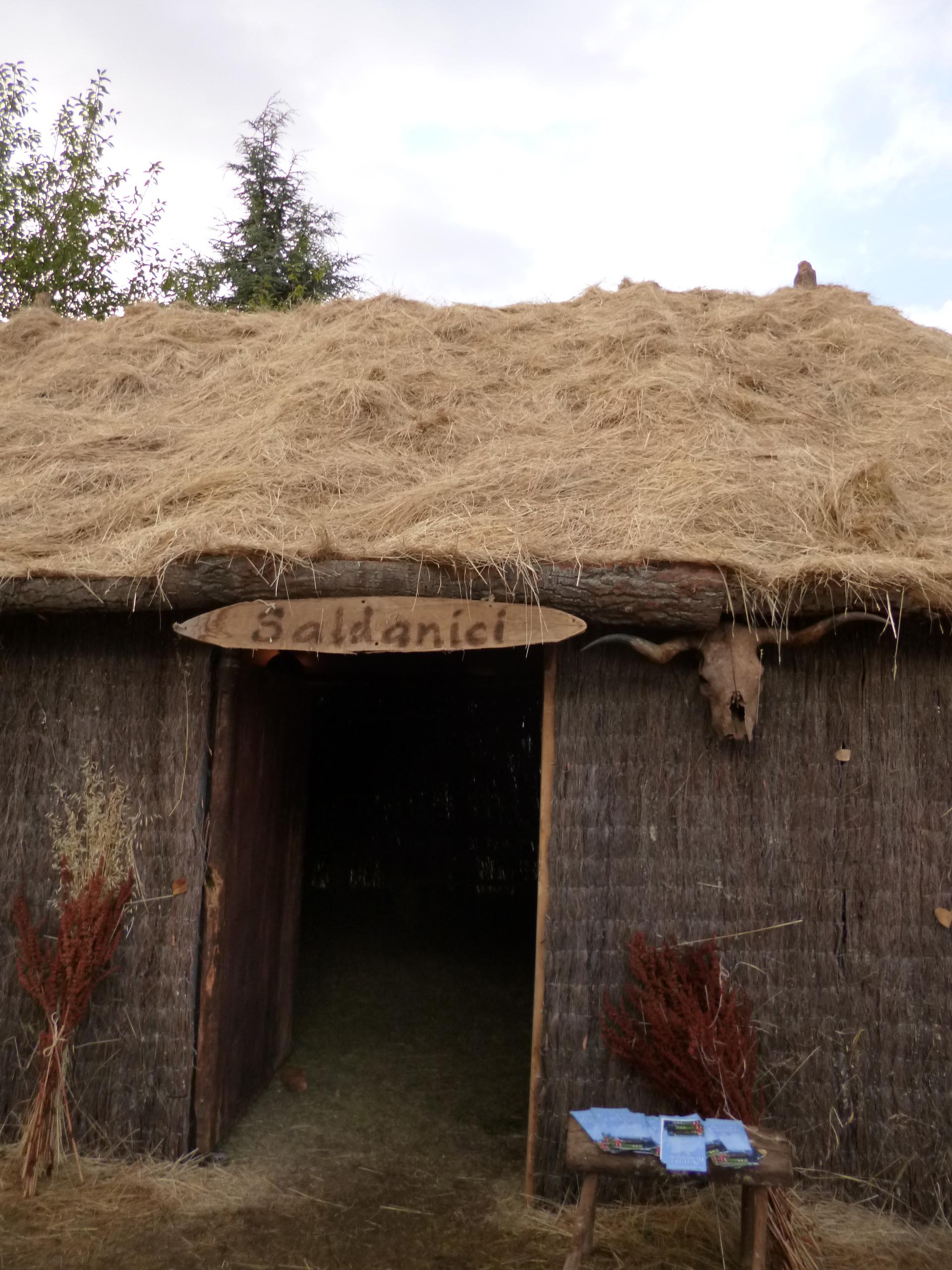 Cabaña de la tribu Saldanici en el campamento Astur #325D99 1920x2560